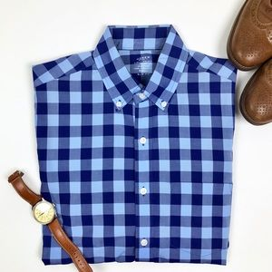 J. Crew Light Weight Buttondown Two-Toned Gingham